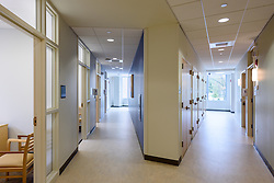 Yale-New Haven Health Park Avenue Medical Center. Architect: Shepley Bulfinch. Contractor: Gilbane Building Company, Glastonbury, CT. James R Anderson Photography, New Haven CT photog.com. Date of Photograph 4 May 2016  Submission 25  © James R Anderson. Hallway First Floor.