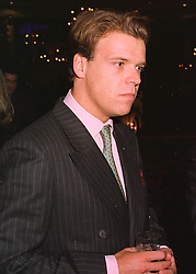 Restauranteur MR JOEL CADBURY, at a party in London on 19th March 1998.<br /> MGD 50