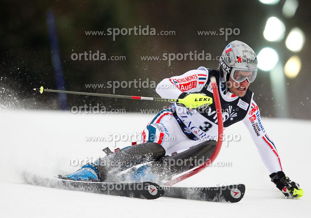 6.1.2011 Sljeme, Zagreb, CRO, Audi FIS World Cup Ski Alpin, Men, Slalom, at Picture LIZEROUX Julien (FRA) competes during 1st run; SPORTIDA PHOTO AGENCY © 2011, PhotoCredit: SPORTIDA / Vid Ponikvar