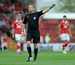 Referee, Scott Mathieson  - Photo mandatory by-line: Dougie Allward/JMP - Mobile: 07966 386802 - 27/09/2014 - SPORT - Football - Bristol - Ashton Gate - Bristol City v MK Dons - Sky Bet League One