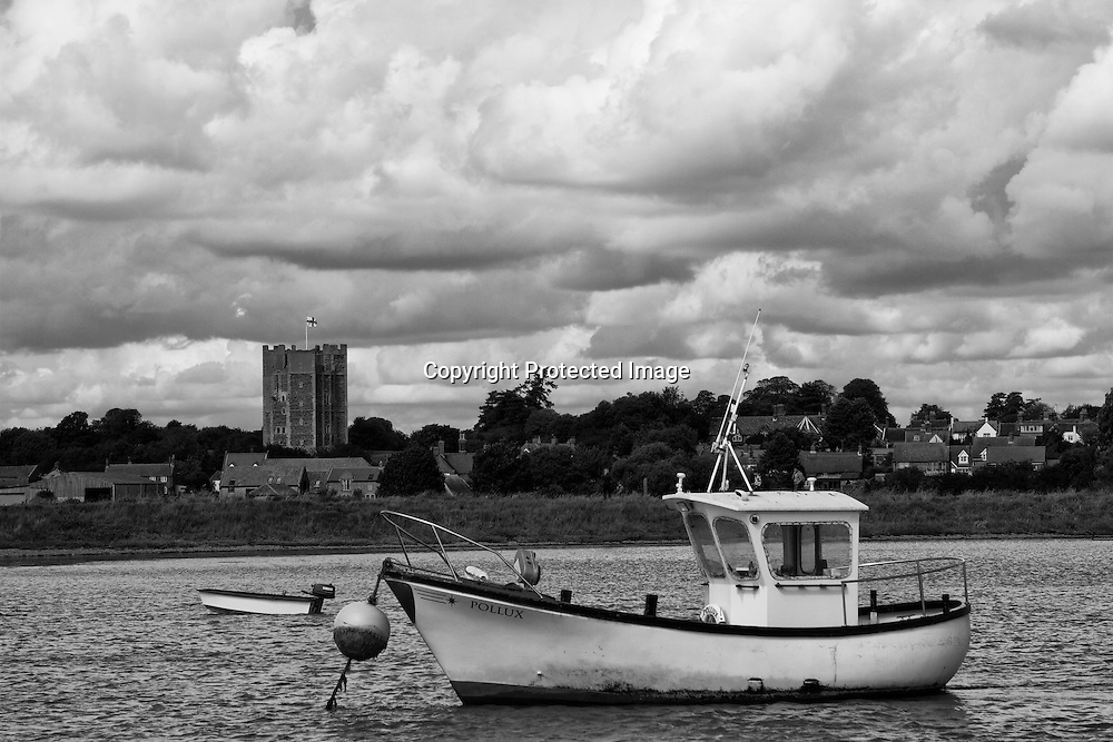 Fishing boat moored on the River Ore near Orford