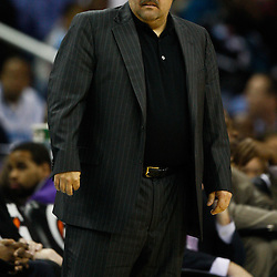 January 12, 2011; New Orleans, LA, USA; Orlando Magic head coach Stan Van Gundy against the New Orleans Hornets during the first quarter at the New Orleans Arena.   Mandatory Credit: Derick E. Hingle