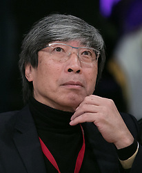 March 11, 2018 - Los Angeles, California, U.S - Dr. Patrick Soon-Shiong attends the NBA game between the Los Angeles Lakers and the Cleveland Cavaliers on Sunday March 11, 2018 at the Staples Center in Los Angeles, California. Lakers defeat Cavaliers, 127-113. (Credit Image: © Prensa Internacional via ZUMA Wire)
