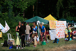 UK ENGLAND WEST SUSSEX BALCOMBE 26JUL13 - Local residents protest at the Cuadrilla hydraulic fracking drill site in Balcombe, West Sussex.<br /> <br /> Cuadrilla plans to start drilling a 3,000ft (914m) vertical well and a 2,500ft (762m) horizontal bore to the south of the village in search for oil and gas resources.<br /> <br /> jre/Photo by Jiri Rezac<br /> <br /> &copy; Jiri Rezac 2013