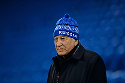 CARDIFF, WALES - Friday, November 24, 2017: Kazakhstan's head coach Aitpay Jamantayev before the FIFA Women's World Cup 2019 Qualifying Round Group 1 match between Wales and Kazakhstan at the Cardiff City Stadium. (Pic by David Rawcliffe/Propaganda)