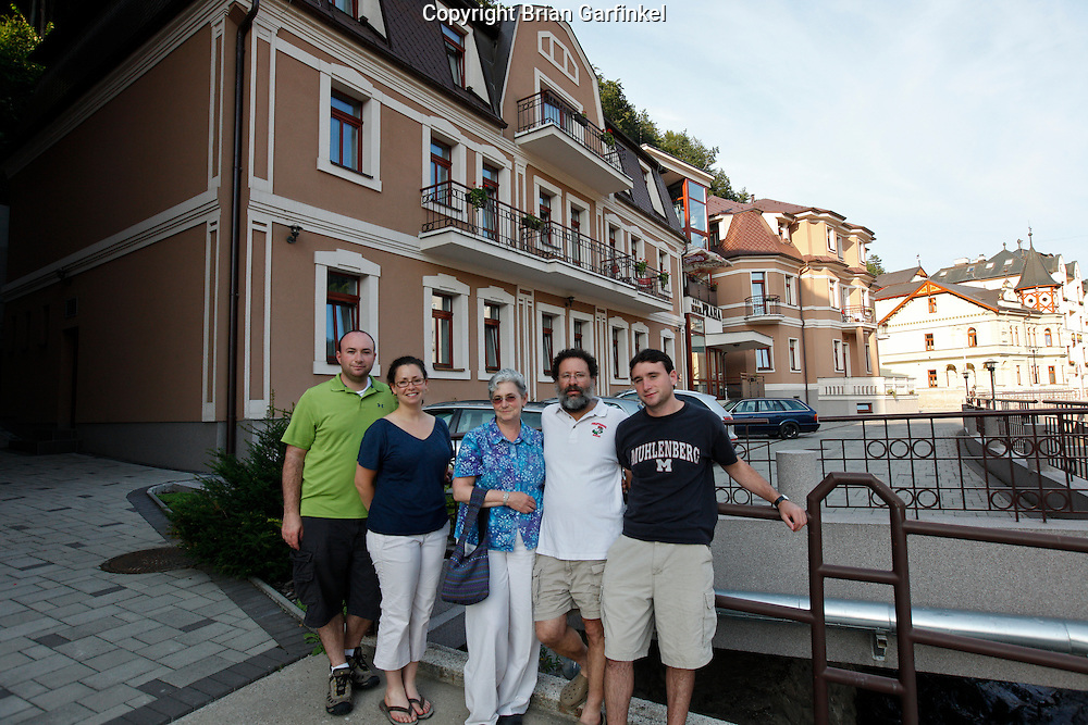 The Praha Hotel which was previously known by another name and managed by family in Trencin Teplice, Slovakia on Thursday, July 7th 2011.  (Photo by Brian Garfinkel)