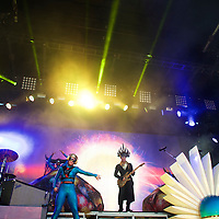 Empire of the Sun performs during the Firefly Music Festival in Dover, Delaware June 21, 2015. According to organizers, attendance exceeded 90,000 for the four day festival, which featured more than 110 acts, and was set in 105 acre grounds of the Dover International Speedway.