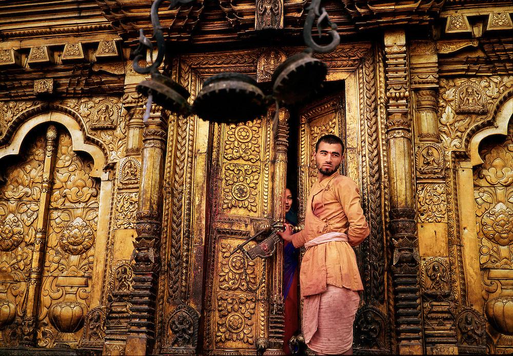 Changu Narayan Hindu temple. Kathmandu Valley, Nepal. UNESCO World Heritage site.