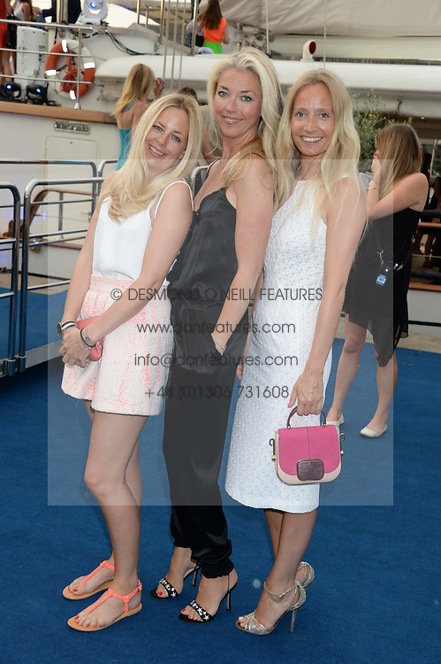 The Johnnie Walker Blue Label and David Gandy Drinks Reception aboard John Walker & Sons Voyager, St.Georges Stairs Tier, Butler's Wharf Pier, London, UK on 16th July 2013.<br /> Picture Shows:-Astrid Harbord, Tamara Beckwith, Martha Ward.