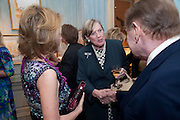KATHARINE RAYNER; VISCOUNTESS STUART OF FINDHORN; WILLIAM RAYNER, An exhibition of watercolours by William Rayner at Mallet's, New Bond St. Party afterwards at Bellami's, bruton Place. London. 16 June 2010. .-DO NOT ARCHIVE-© Copyright Photograph by Dafydd Jones. 248 Clapham Rd. London SW9 0PZ. Tel 0207 820 0771. www.dafjones.com.