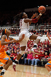 Dec 20, 2011; Stanford CA, USA; Stanford Cardinal forward Nnemkadi Ogwumike (30) shoots against the Tennessee Lady Volunteers during the second half at Maples Pavilion.  Stanford defeated Tennessee 97-80. Mandatory Credit: Jason O. Watson-US PRESSWIRE