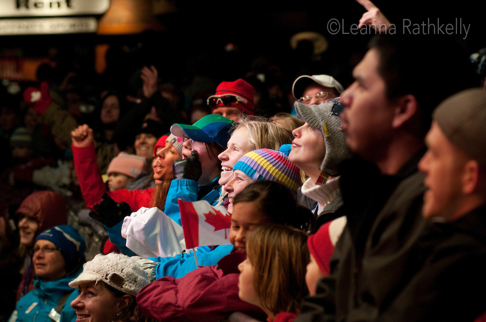 The Barenaked Ladies played in Whistler Village to a crowd that filled Village Square and up the stroll during the 2010 Olympic Winter Games in Whistler, BC Canada.