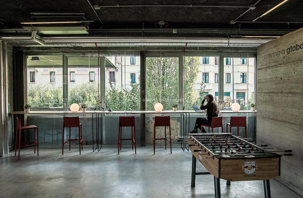 Milan, Talent Garden cooworking company. coffee area