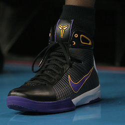 12 November 2008:  A close up of the shoe worn by Lakers guard Kobe Bryant during a 93-86 win by the Los Angeles Lakers over the New Orleans Hornets at at the New Orleans Arena in New Orleans, LA..