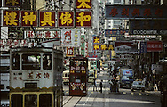 Hong Kong. tramways in Wanchai (Victoria island) on Hennessy road        / tramways . ìWanchaiî; sur  Hennessy road         / R00092/7    L0007250  /  P0001850