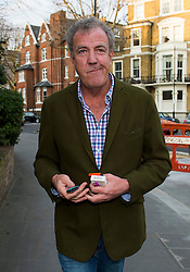 © London News Pictures. 14/03/2015. Top Gear presenter Jeremy Clarkson arriving back at his home in West London on March 14, 2015. Photo credit: Ben Cawthra/LNP