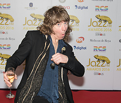 Victoria House, London, April 26th 2016.  Simon Bartholomew of the Brand New Heavies photographed at the Jazz FM awards at Victoria House, Bloomsbury, London.