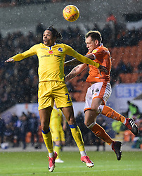 Daniel Leadbitter of Bristol Rovers battles for a high ball with Harry Pritchard of Blackpool - Mandatory by-line: Alex James/JMP - 03/11/2018 - FOOTBALL - Bloomfield Road - Blackpool, England - Blackpool v Bristol Rovers - Sky Bet League One