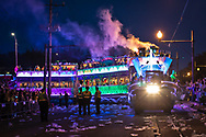 Float in the Endymion Parade in New Orleans during Mardis Gras 2019.