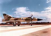 Israeli Air Force Dassault Mirage IIICJ fighter plane on the ground - Archival Image ..