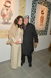 DANIELA HELAYEL and STEPHEN JONES at the Future Contemporaries Party in association with Coach at The Serpentine Sackler Gallery, West Carriage Drive, Kensington Gardens, London on 21st February 2015.