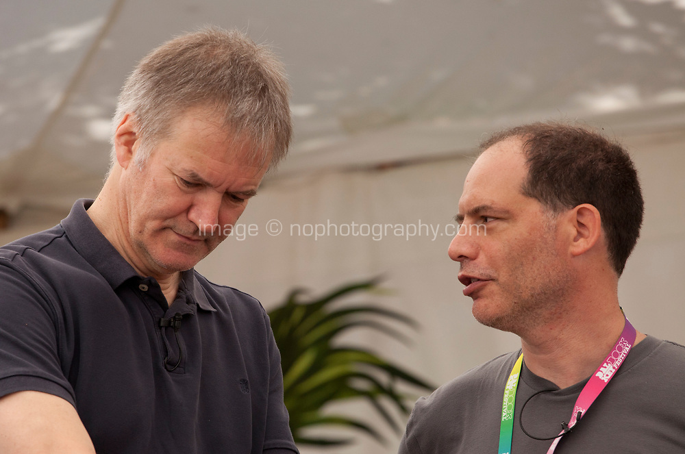 Journalist David Goodhart and author and journalist Simon Kuper at the 'Truth Matters: Media in an Age of Fake News' discussion at the Dalkey Book Festival, Dalkey, County Dublin, Ireland, Saturday 17th June 2017. Photo credit: Doreen Kennedy