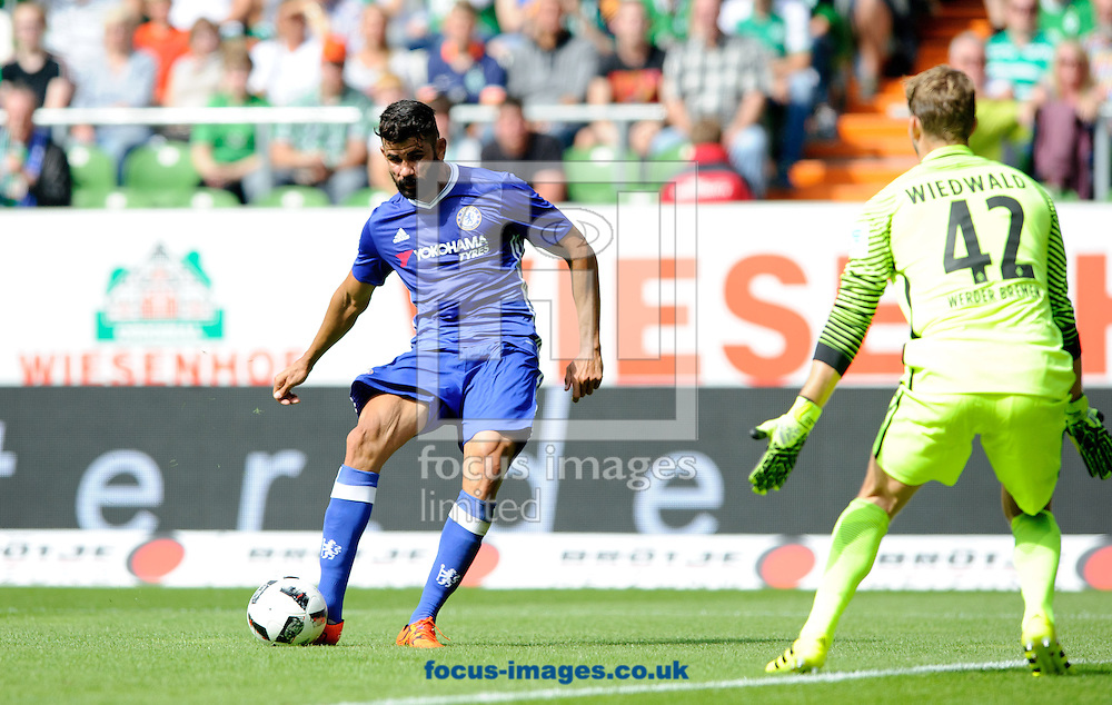 Diego Costa of Chelsea scores during the pre season friendly match at Weserstadion, Bremen, Germany.<br /> Picture by EXPA Pictures/Focus Images Ltd 07814482222<br /> 07/08/2016<br /> *** UK &amp; IRELAND ONLY ***<br /> EXPA-EIB-160807-0248.jpg