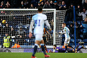 Blackburn Rovers midfielder Harrison Reed (4) chips the keeper and scores a goal 3-0  during the EFL Sky Bet Championship match between Blackburn Rovers and Hull City at Ewood Park, Blackburn, England on 26 January 2019.