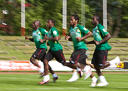 21.05.2010, Dolomitenstadion, Lienz, AUT, WM Vorbereitung, Kamerun Training im Bild Jean II Makoun, Mittelfeld, Nationalteam Kamerun (Olympique Lyon), EXPA Pictures © 2010, PhotoCredit: EXPA/ J. Feichter / SPORTIDA PHOTO AGENCY