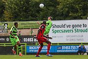 Forest Green Rovers Christian Doidge(9) heads the ball forward during the Vanarama National League match between Forest Green Rovers and Barrow at the New Lawn, Forest Green, United Kingdom on 1 October 2016. Photo by Shane Healey.