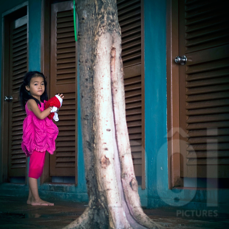 Portrait of a young vietnamese girl in Nha Trang, Vietnam, Asia