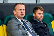 DEN HAAG - 30-10-2016, ADO Den Haag - AZ , Kyocera Stadion, AZ trainer John van den Brom, Assistent trainer Dennis Haar