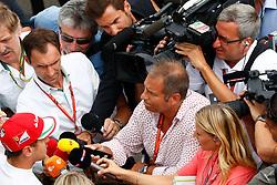 July 8, 2017 - Spielberg, Austria - Motorsports: FIA Formula One World Championship 2017, Grand Prix of Austria, .#5 Sebastian Vettel (GER, Scuderia Ferrari), Kai Ebel (GER, RTL Television) (Credit Image: © Hoch Zwei via ZUMA Wire)