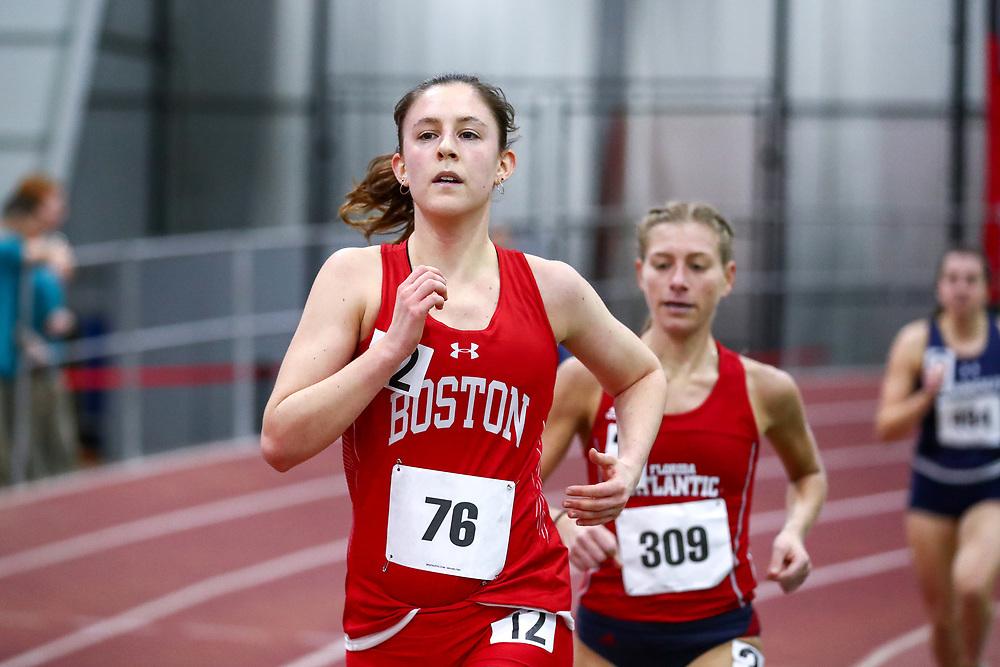 womens 3000 meters, BU, Jamie Grossman<br /> Boston University Scarlet and White<br /> Indoor Track & Field, Bruce LeHane