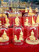 Gold statues in Chinatown gold shop