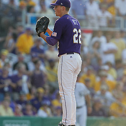 06 June 2009:  LSU pitcher, Matty Ott (22) on the mound during a 5-3 victory by the LSU Tigers over the Rice Owls in game two of the NCAA baseball College World Series, Super Regional played at Alex Box Stadium in Baton Rouge, Louisiana. The Tigers with the win advance to next week's College Baseball World Series in Omaha, Nebraska.