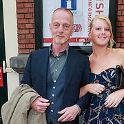 NLD/Amsterdam/20130424- Filmpremiere Boven is het Stil, schrijver Gerbrand Bakker en zijn nichtje