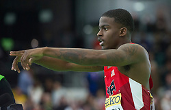 Trayvon Bromell of the United States celebrates after winning the men's 60 metres final during day two of the IAAF World Indoor Championships at Oregon Convention Center in Portland, Oregon, the United States, on March 18, 2016. EXPA Pictures © 2016, PhotoCredit: EXPA/ Photoshot/ Yang Lei from Chongqing<br /> <br /> *****ATTENTION - for AUT, SLO, CRO, SRB, BIH, MAZ, SUI only*****