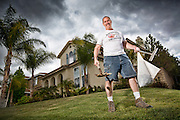 Dog poop pick up guy in Santa Clarita, LA. USA