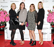 27/9/14***NO REPRO FEE*** Pictured is Pauline Cullen, Jenny Carthy, Sinead Sheehan and Maeve Lynch as Dublin's ladies turn out for a fashionable Cocktail Evening in aid of the Caroline Foundation Pic: Marc O'Sullivan  Friday 26th September: Last night saw a slice of high-end NY style hit Dublin, arriving at The Four Seasons.  Stylish ladies turned out in force to support the event and to mark the start of Breast Cancer Awareness month. The fundraiser, which was a sell-out was the brainchild of Paula McClean a breast cancer survivor and tireless fundraiser. Combining her love of fashion and a good party, the first Cocktail Club Event was born. With a great night of style, fun and raising a lot of money for cancer research, it is no wonder it was a sell- out.  The lucky ladies were treated to a special fashion Show by Brown Thomas who show cased their designers in a salon style. The show featured a selection of key looks mirroring trends from the international runways. The mood for AW14 is easy, elegant, casual and chic. New labels to love include Jenny Packham, Valentino, Osman, Brunello Cucinelli and Moschino. Curated by the affable Michelle Curtain, the clothes were a show-stopper. In keeping with the era of the collection, the evening had a distinctive New York retro theme. Signature 'Original' cocktails from The Four Seasons, featuring Tanqueray London Dry Gin and Ketel-One with the trademark Copper Kettle serve, were the order of the day with eclectic tunes from club DJ Dom to keep the party going. All the lucky ladies went home with a luxury La Bougie Candle. The inaugural Cocktail Club in aid of the Caroline Foundation is the brainchild of Paula McClean a breast cancer survivor and tireless fundraiser. Commenting on the evening, 'Breast Cancer and the Caroline Foundation are very close to my heart and combining this with my love of fashion and a good party, we came up with the first Cocktail Club. We are looking forward to a great night of style, fun and