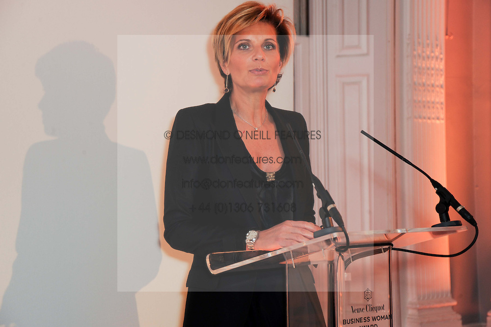 SABINA BELLI at the presentation of the Veuve Clicquot Business Woman Award 2010 held at the Institute of Contemporary Arts, 12 Carlton House Terrace, London on 23rd March 2010.  The winner was Laura Tenison - Founder and Managing Director of JoJo Maman Bebe.