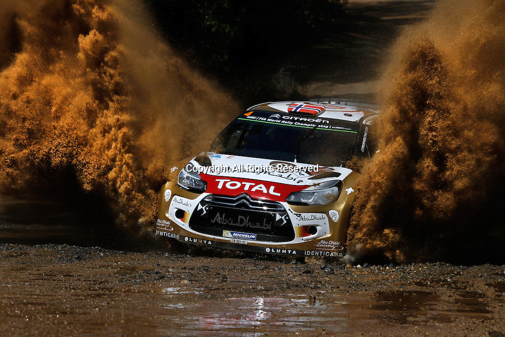 14.09.2014. Coffs Harbour, NSW, Australia.  Mads Ostebrg (NOR) / Jonas Andersson (SWE) - Citroen DS3 WRC . Coffs Harbour, final day of rally.