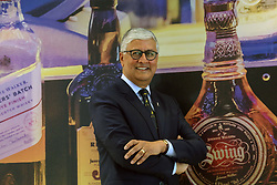 Pictured: Diageo CEO Ivan Menezes<br /> <br /> Diageo CEO Ivan Menezes in Scotland to announce investment in whisky visitor centres 16042018 pic copyright Terry Murden @edinburghelitemedia <br /> <br /> Terry Murden   EEm 16 April 2018