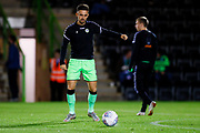 Forest Green Rovers defender Liam Shephard (2) warming up  during the EFL Sky Bet League 2 match between Forest Green Rovers and Tranmere Rovers at the New Lawn, Forest Green, United Kingdom on 23 October 2018.