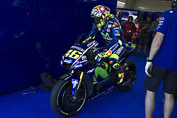 November 11, 2017 - Cheste, Spain - Valentino Rossi (Movistar Yamaha MotoGP) start from pit  during qualifying session at Valencia Motogp  (Credit Image: © Gaetano Piazzolla/Pacific Press via ZUMA Wire)