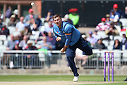 Derbyshires Mark Watt during the Royal London 1 Day Cup match between Lancashire County Cricket Club and Derbyshire County Cricket Club at the Emirates, Old Trafford, Manchester, United Kingdom on 2 May 2019.