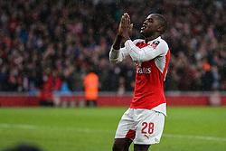 Goal, Joel Campbell of Arsenal scores, Arsenal 1-1 Sunderland - Mandatory byline: Jason Brown/JMP - 07966386802 - 09/01/2016 - FOOTBALL - Emirates Stadium - London, England - Arsenal v Sunderland - The Emirates FA Cup