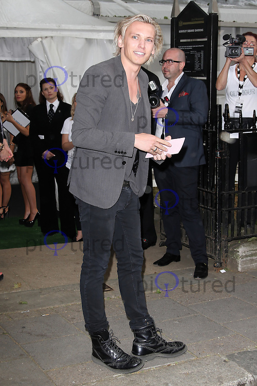 LONDON - MAY 29: Jamie Campbell Bower attends the Glamour Women Of The Year Awards, Berkeley Square, London, UK. May 29, 2012. (Photo by Richard Goldschmidt)