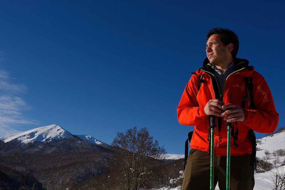 Mountain guide Umberto Esposito, Central Apennines, Italy