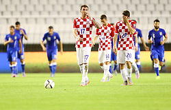 12.06.2015, Stadion Poljud, Split, CRO, UEFA Euro 2016 Qualifikation, Kroatien vs Italien, Gruppe H, im Bild Mario Mandzukic, Mateo Kovacic // during the UEFA EURO 2016 qualifier group H match between Croatia and and Italy at the Stadion Poljud in Split, Croatia on 2015/06/12. EXPA Pictures © 2015, PhotoCredit: EXPA/ Pixsell/ Slavko Midzor<br /> <br /> *****ATTENTION - for AUT, SLO, SUI, SWE, ITA, FRA only*****